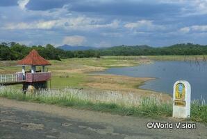 支援地域内のため池。近年は干ばつや洪水の影響が大きい