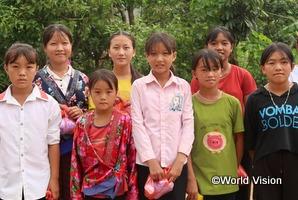 人身取引予防事業の支援対象となった地域の女の子