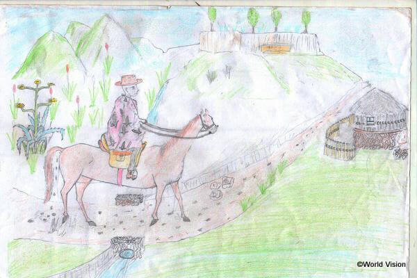 レソトではお祭りの時によく馬が登場します。馬は人々にとって大切なものです