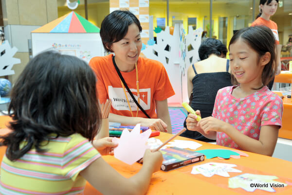 日本の子どもたちに向けて毎年開催しているワールド・ビジョン・サマースクール